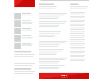 Media Kit Template for banner locations on websites